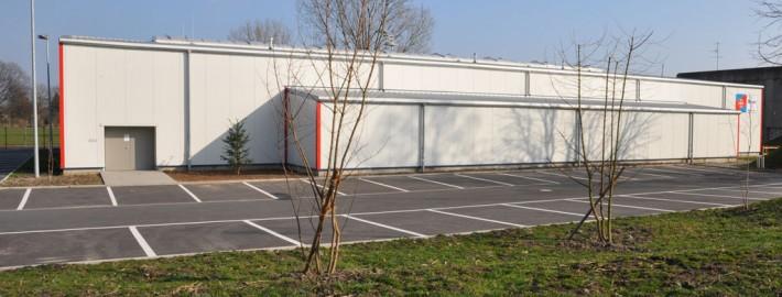 Neue Bayer-Sporthalle