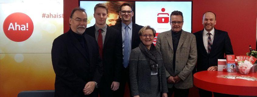 v.l.: Jochen Adrian, Erik Buschmann, Dustin Bauch, Sabine Haberland, Hans-Werner Sartory und Mathias Kuhn